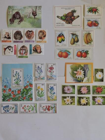Macacos / Flora 4 Series Bloco / Selos Novos Cot. 40 Euros