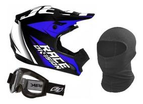 Capacete Trilha Óculos Motocross Th1 Jett Factory Edition
