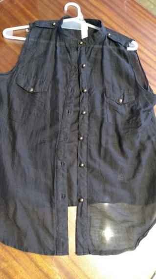 Camisa Sin Mangas Negra Super Liviana T M