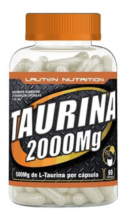 Taurina 2000mg--4 Potes C/60 Cápsulas Lauton Ntrition