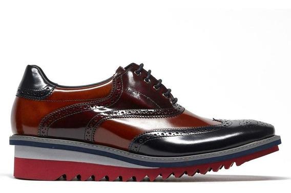 Zapato Vestir Piel Hombre Inglés Acabado Antic Prada Mx