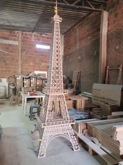 Torre Eiffel Mdf 6mm 3,75 Metros De Altura Festa Decoração