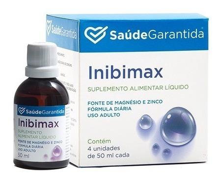 Suplemento Inibimax - 4 Frascos   Saúde Garantida