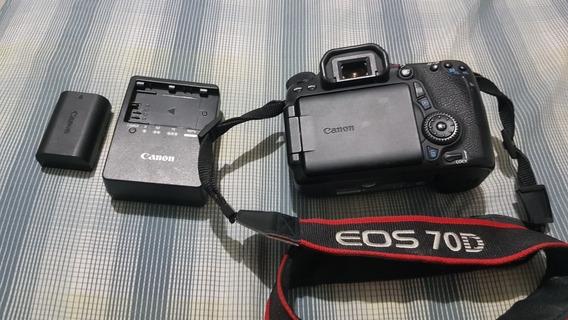 Canon 70d - 50k Clicks - Bateria, Cartão E Alça