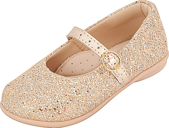 Sapatilha Infantil Menina Renda Glitter Plis Calçados 112