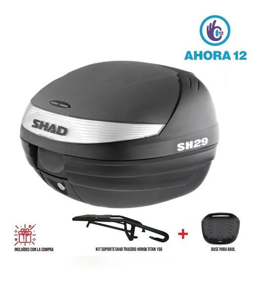 Baul Shad 29 C/ Parrilla P/ Honda New Titan 150 - Ahora 12