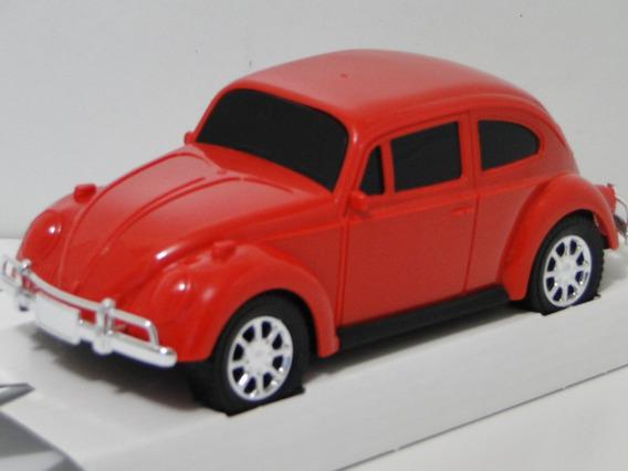 Miniatura Fusca Vermelho 1965 Carrinho Coleção Volkswagem