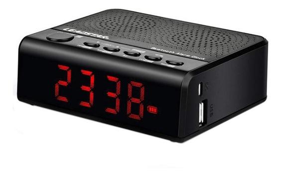 Bocina Bluetooth Y Reloj Despertador Radio Fm,pantalla Led