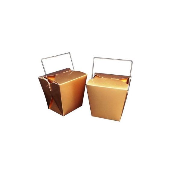 Wgi Chinese Food Decoration Box Gold (5 Piezas)