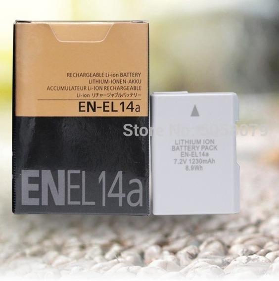 Carregador E Bateria Para Nikon En-el14a D3300 D5500 D5200