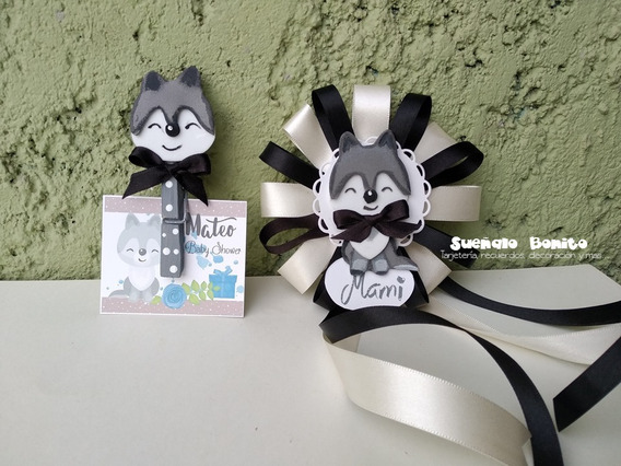 Distintivos Baby Shower Lobito Bebe