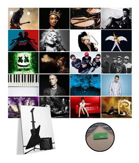 Placa Decorativa A3 Rap Hip-hop Vários Kit Com 7 Musica