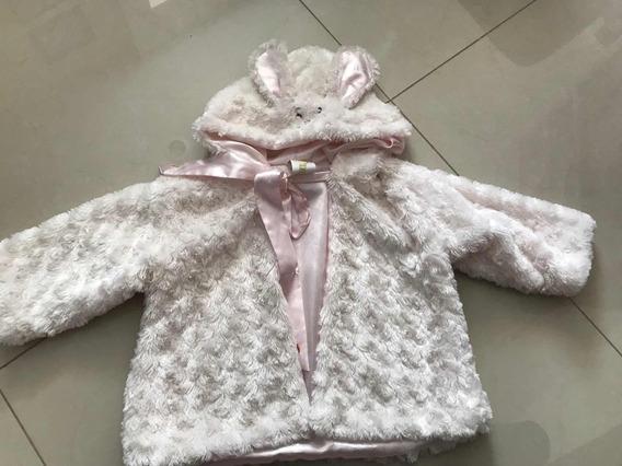 Abrigo Conejo Peluche Para Bebé 12-18 Meses