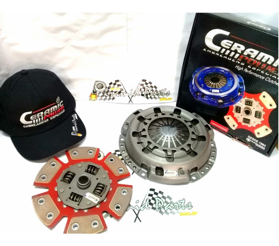 Kit Embreagem Ceramica 6 Pastilha Light Pedal Leve Gol Ap +