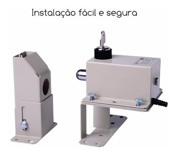 Trava Portao Automatico Basculante Lock Ipec + Suporte 110v