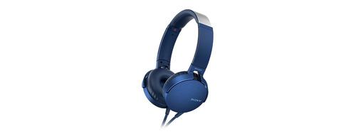 Audífonos Sony (mdr-xb550ap/l) Extra Bass Azul