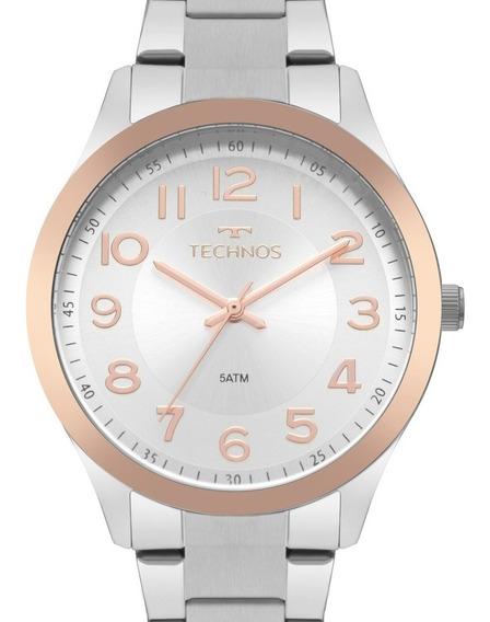 Relógio Technos Feminino Prata / Rose - 2035mpu/5k