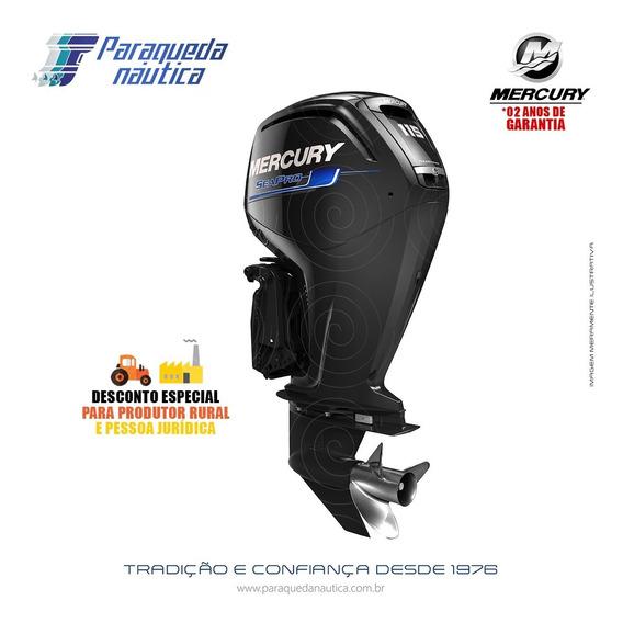 Motor De Popa Mercury 4 Tempos 115hp Elpt Efi Ct Seapro