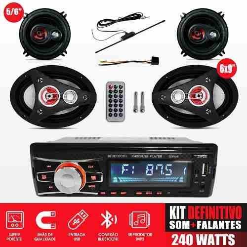 Radio Som Bluetooth & Alto Falantes Antena Corsa Celta Astra