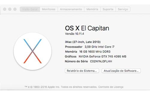 iMac Hackintosh - I7 - 16gb - 4tb - Geforce Gtx 745 4gb