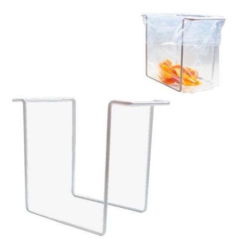 Porta Bolsa Basurero Acero Plastificado + 20 Bolsas Gratis