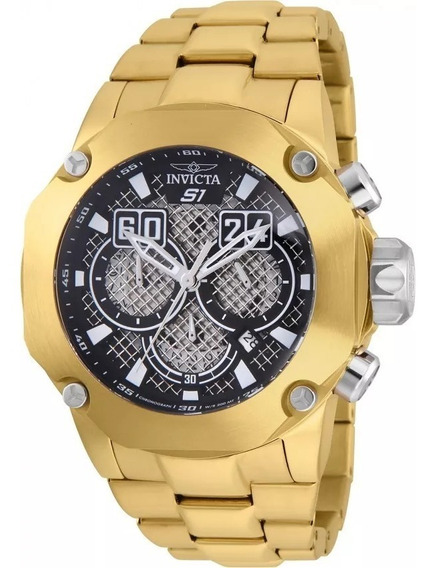 Relógio Invicta 25295 Masculino Banhado Ouro Original