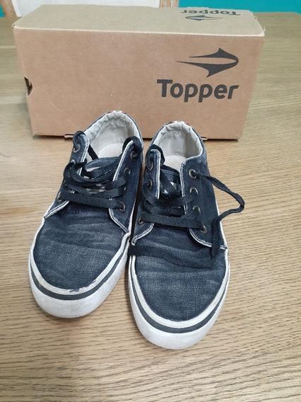 Zapatillas Topper Niños Negras. Usadas