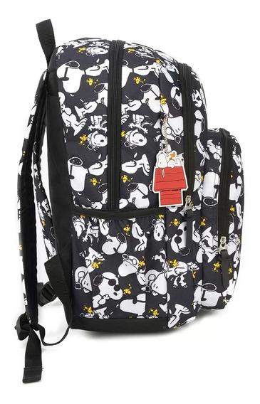Mochila Notebook Com Chaveiro Snoopy - Original Peanuts