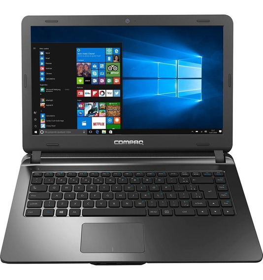 Notebook Hp Compaq Dual Core 4gb 128 Ssd Tela 14 Hd Preto