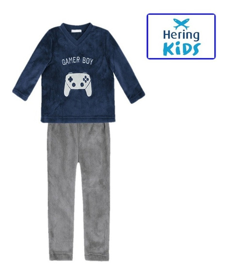 Pijama Bebê Fleece Calça E Camisa Manga Longa Inverno Frio