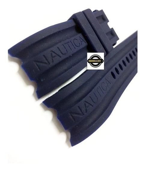 Pulseira Nautica 24mm Azul Escuro Frete Gratis
