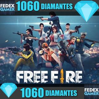 1060 Diamantes Free Fire - Entrega Por Id - Fedexgamer