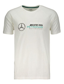 Camisa Mercedes Amg Petronas Motorsport Logo - Branca - Puma