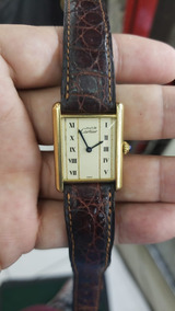 Relógio Cartier Vermeil Must De Cartier Tank Louis Quartz