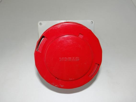 Pacote 5 Tomada De Embutir 3p+t 63a 380/440v Vermelho Steck