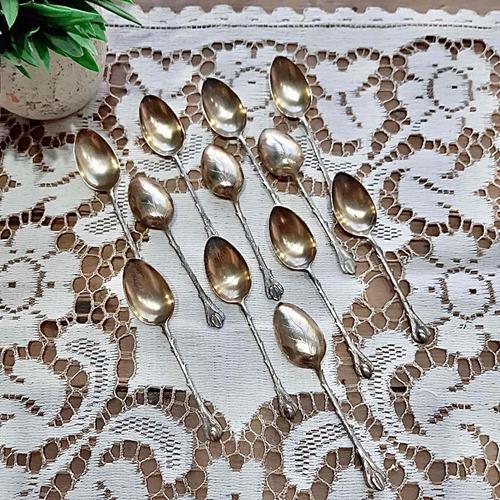 Antiguas Cucharitas De Café De Plata Lappas - Precio Por 6