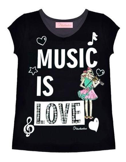 Blusa Pituchinhus Cotton Music Is Love - 36903