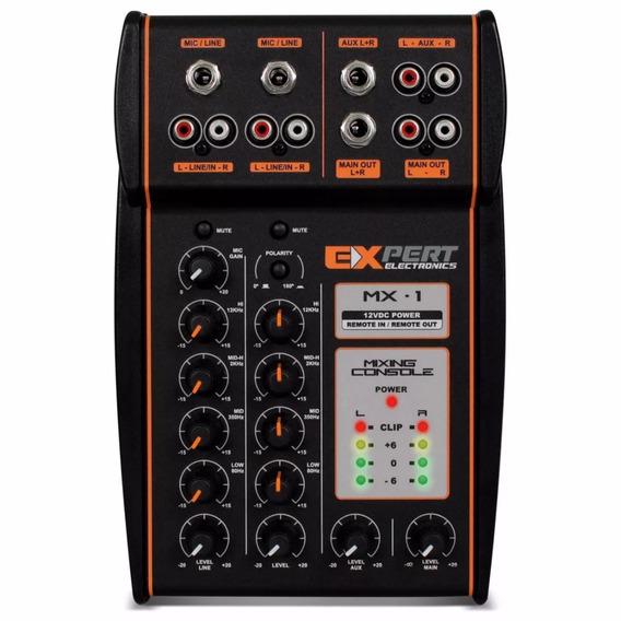 Mesa De Som Processadora Expert Mx-1 Automotivo 4 Canais