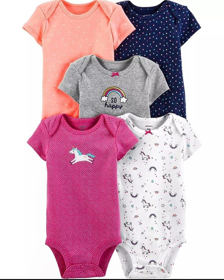Set 5 Bodys Carters Bebe Hembra