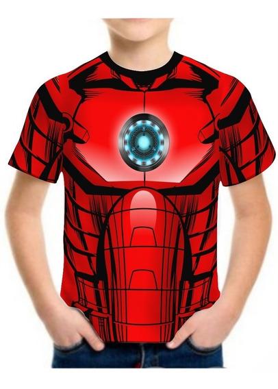Kit 10 Camisa Camiseta Infantil Roupas Herois Black Friday