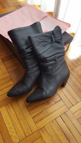 Botas De Cuero Negras Sibyl Vane N°36