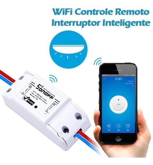 Interruptor Sonoff Wifi Controle A Distância - App Android Ios - Funciona Google Home / Alexa - Automação Residencial