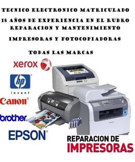 Impresoras Laser Reparacion Todas Las Marcas