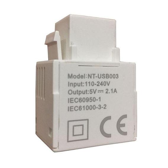 Conector Usb Charger 5v 2.100a Para Espelho 4x2