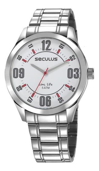 Relógio Masculino Seculus Long Life Com Garantia E Nfe