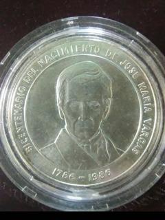 Moneda Conmemorativa Bicentenario José María Vargas