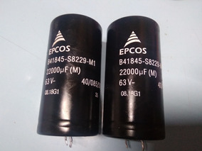 2 Capacitores 22000uf. Por 63v Elétroliticos Novos
