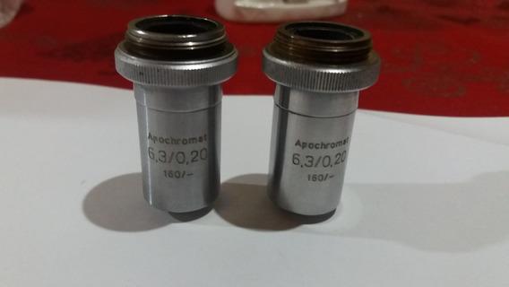 Objetivas Apocromáticas Para Microscópio,6,3x, 6.3x,