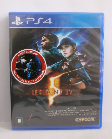 Resident Evil 5 Jogo Ps4 Novo Lacrado Midia Fisica