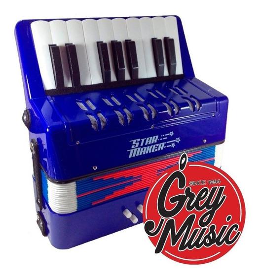 Acordeon P/niños Star Maker Acm Mini 8 Bajos Teclas A Piano